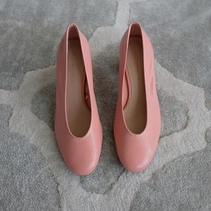 Zara Pink Leather Shoes